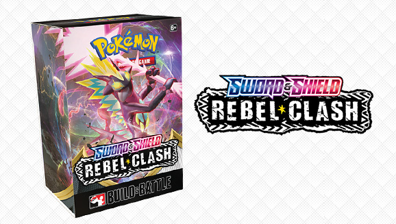 Get Playing Fast with Pokémon TCG: Sword & Shield—Rebel Clash Build & Battle Boxes