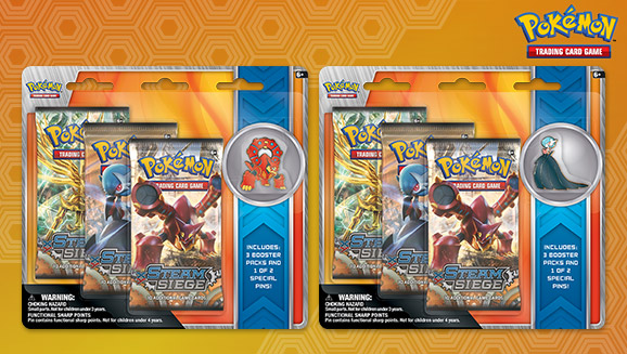 Pokémon TCG: Volcanion and Shiny Mega Gardevoir 3-Pack Pin Blister