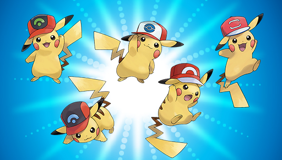 Get Pikachu Wearing Ash's Hats