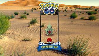 Larvitar Rocks on Pokémon GO Community Day
