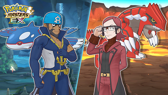 Scout Archie & Kyogre and Maxie & Groudon in Pokémon Masters EX