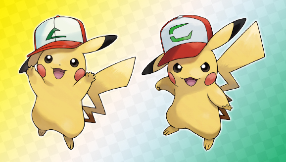 Team Up with Pikachu Wearing Ash's Iconic Caps