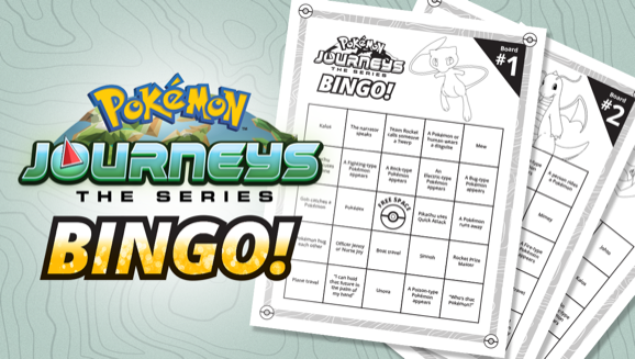 Bingo! Make a Game Out of Watching Pokémon Journeys: The Series on Netflix