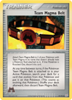Team Magma Belt