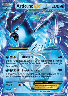 Featured Team Plasma Pok  233 mon- EX CardsArticuno Ex Pokemon Card