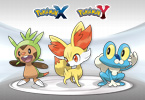 <em>Pokémon X</em> and <em>Pokémon Y</em> Starters Wallpaper