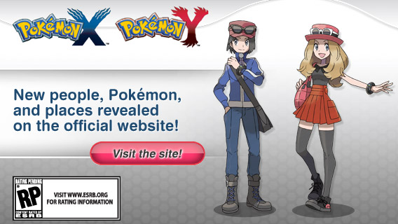 Visit the Pokémon X and Pokémon Y official site!