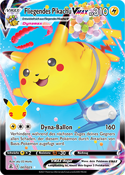Fliegendes Pikachu VMAX