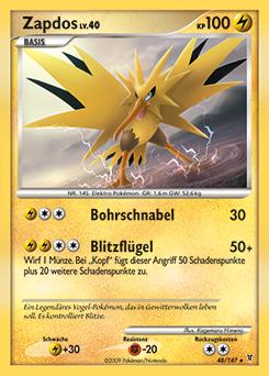 Zapdos pok dex - Carte pokemon electhor ex ...