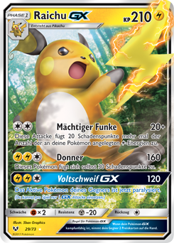 Pokemon Karten Gx Pikachu.Raichu Gx Schimmernde Legenden Sammelkarten Datenbank