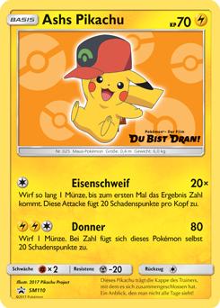 Ashs Pikachu Promokarten Sammelkarten Datenbank Pokemonde