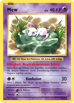 Mew Karte.Mew Xy Evolution Sammelkarten Datenbank Pokemon De