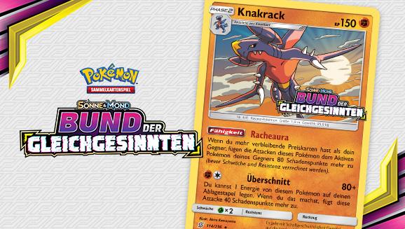 Pokemon Karte DE SEALED SM Bund der Gleichgesinnten Knakrack 114//236 HOLO