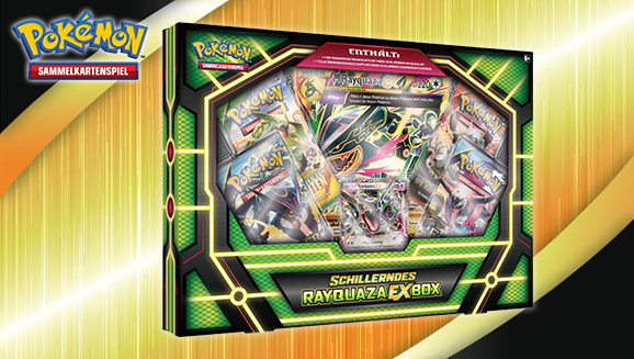 pok mon sammelkartenspiel schillerndes rayquaza ex box. Black Bedroom Furniture Sets. Home Design Ideas