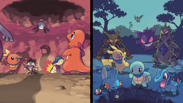 pokémon mystery dungeon blue rescue team and pokémon mystery dungeon