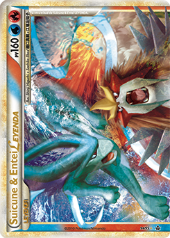 Suicune y Entei LEGEND (arriba)