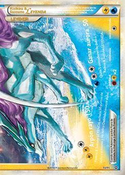 Raikou y Suicune LEGEND (abajo)