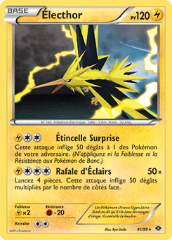 Lecthor destin es futures encyclop die des cartes du - Carte pokemon electhor ex ...