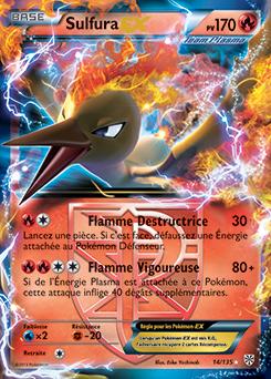 Sulfura ex noir blanc temp te plasma encyclop die - Carte pokemon electhor ex ...