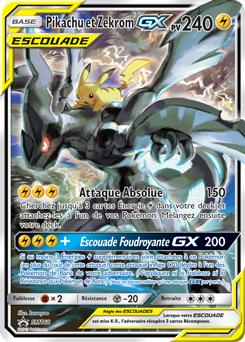 Pikachu et Zekrom-GX