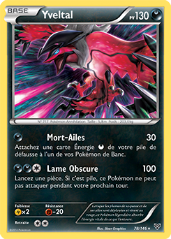 Yveltal ex xy encyclop die des cartes du jcc - Table des types pokemon xy ...