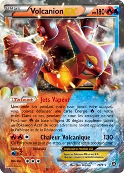A chauffe avec volcanion ex - Carte pokemon fee ...
