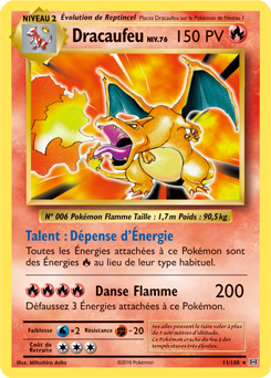 M dracaufeu ex xy tincelles encyclop die des cartes du jcc - Table des types pokemon xy ...