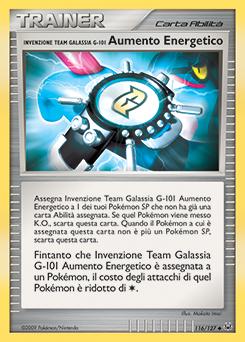 Invenzione Team Galassia G-101 Aumento Energetico