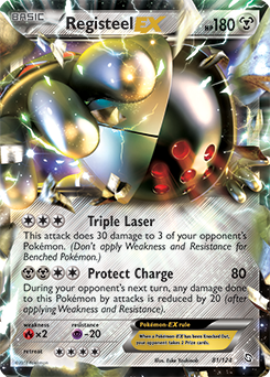 Registeel Pokemon Card Registeel-EX | Black &...