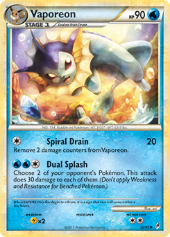 Vaporeon xy ancient origins tcg card database - Carte pokemon aquali ...