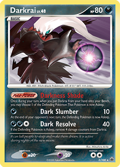 Darkrai Ex Black Amp White Dark Explorers Tcg Card
