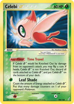 Dark Celebi Card Celebi-EX | Black &...