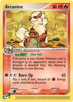 how to get burn up on arcanine