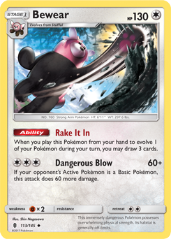 Image result for bewear pokemon card