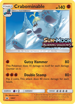 Crabominable Sun Amp Moon Tcg Card Database Pokemon Com