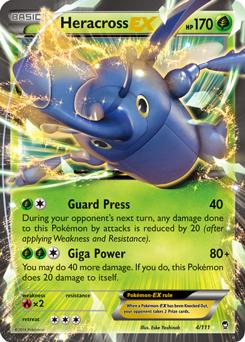 XY Furious Fists - Heracross- Mega Heracross Card