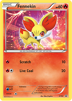 Pokemon Fennekin Card