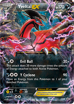 Yveltal ex xy promo tcg card database - Carte pokemon legendaire ex ...