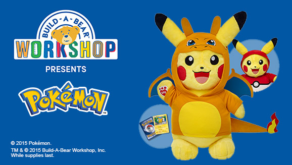 Can You Get The Pikachu And Charizard In Build A Bear Workshop