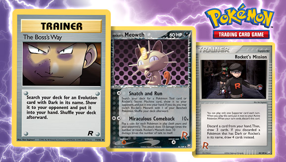 EX TEAM ROCKET RETURNS Pokemon Trainer Cards Select your card