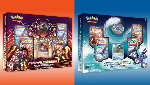 graphic relating to Printable Pokemon Trading Cards named Pokémon TCG: Primal Groudon and Primal Kyogre Collections