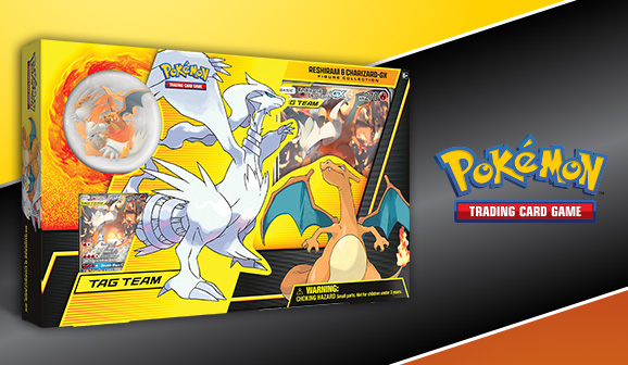 Reshiram /& Charizard GX Collectible Figure Near Mint Pokemon Collectible 3DY