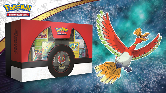Shining Legends Super Premium Collection Playmat Featuring Ho-Oh Pokemon TCG