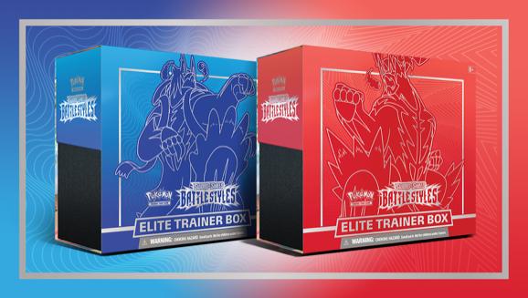 Pokemon TCG Sword /& Shield 5 Battle Styles Elite Trainer Box Blue /& Red MARCH 21