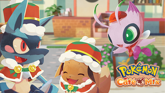 Pokemon Center Christmas 2021 Holiday Lucario And Eevee Shiny Celebi Chansey And More In Pokemon Cafe Mix Pokemon Com