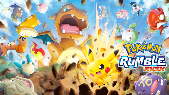 A poster of Pokemon Rumble Rush Mobile Game