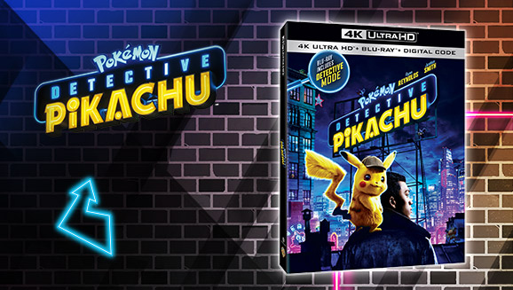 Buy POKÉMON Detective Pikachu on Blu-ray or DVD and get a Pokémon