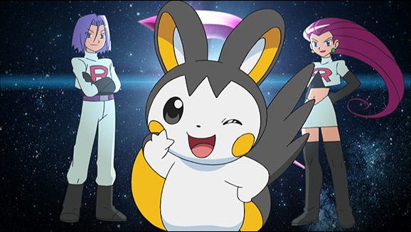 Emolga rejoint la Team Rocket !